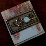 Серебряный зажим для денег в стиле Фаберже