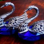 """Серебрёные солонки """"Лебеди"""""""