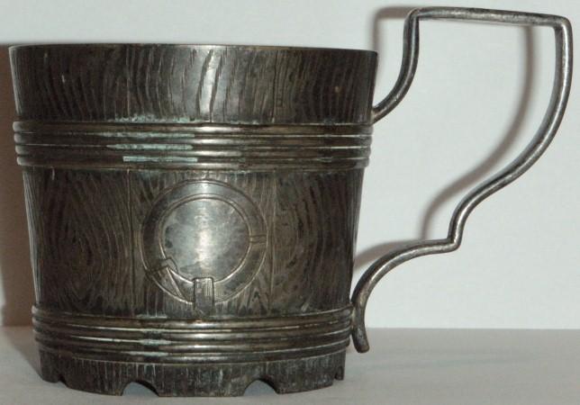 Латунный подстаканник с серебрением