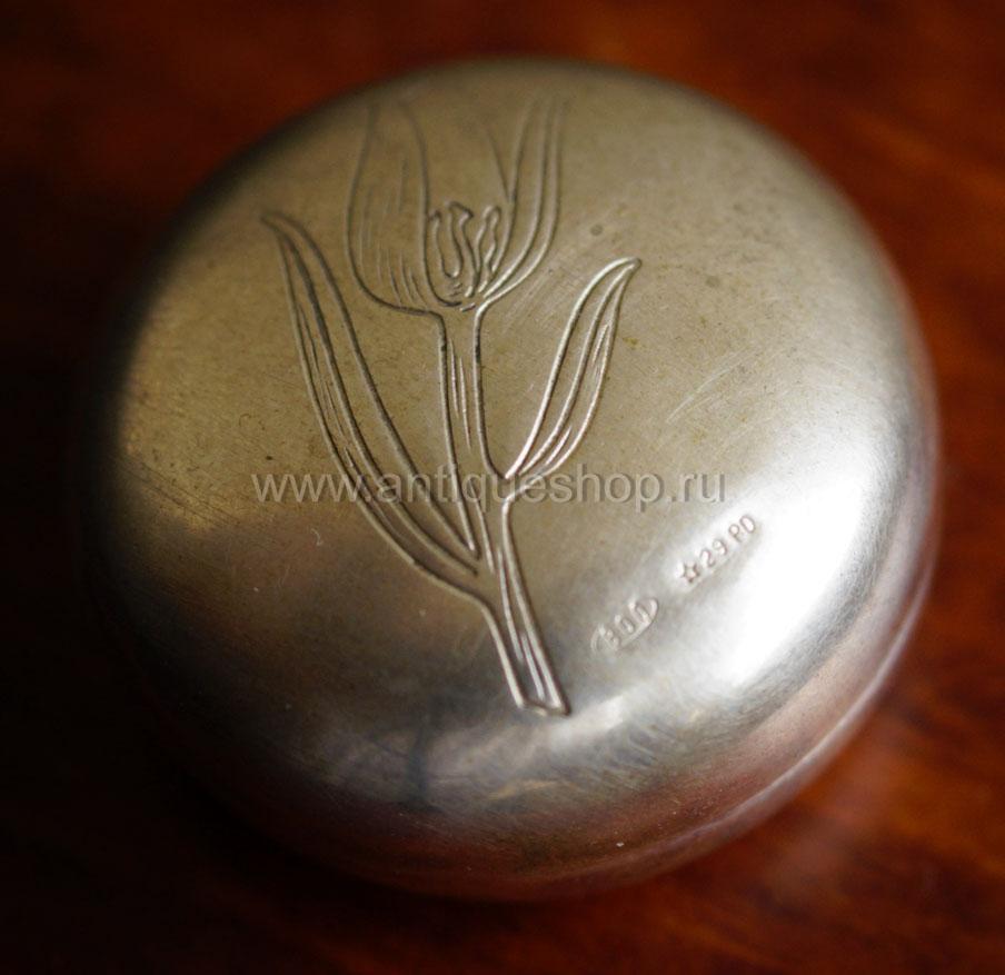 Старинная серебряная таблетница