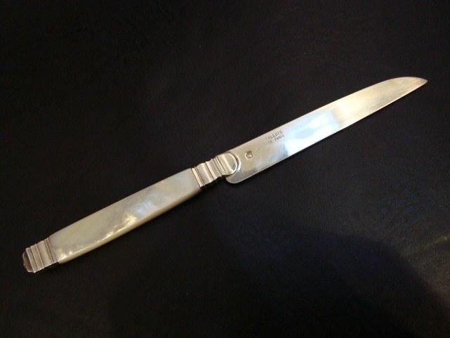 Старинный серебряный канцелярский нож.