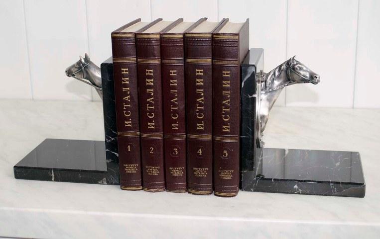 Бронзовые держатели книг с серебрением