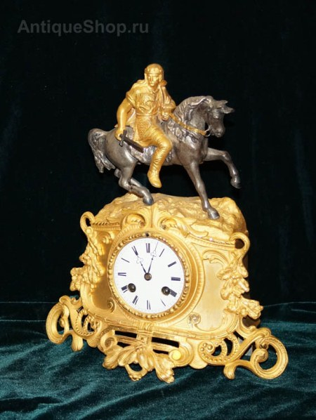 """Каминные часы """"Конный воин"""""""