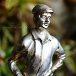 """Скульптура """"Гольфист"""" из бронзы с серебрением"""