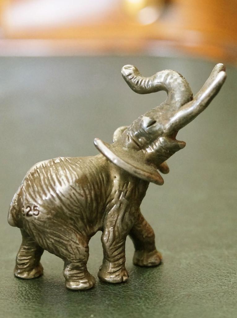 Слон из серебра 925 пробы