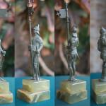 """Фото скульптуры венской бронзы """"Рыцарь"""" с разных ракурсов"""